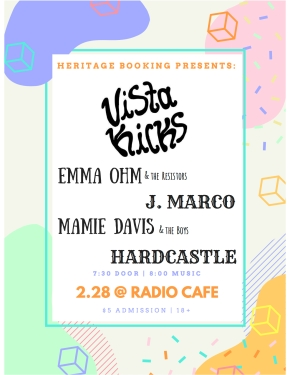 Announcement: Vista Kicks Show in Nashville 2/28 at the RadioCafe